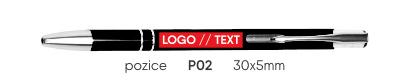 poloha P02 značení reklamní propisky ELEN SLIM