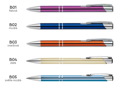 reklamní propiska ELIS - barevné varianty 01
