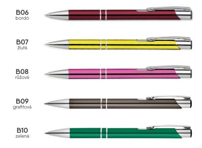 školní propiska ELIS - barevné varianty 02
